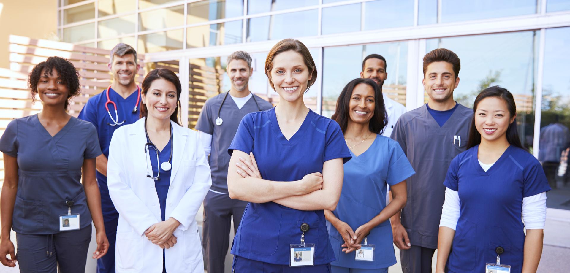healthcare team smiling
