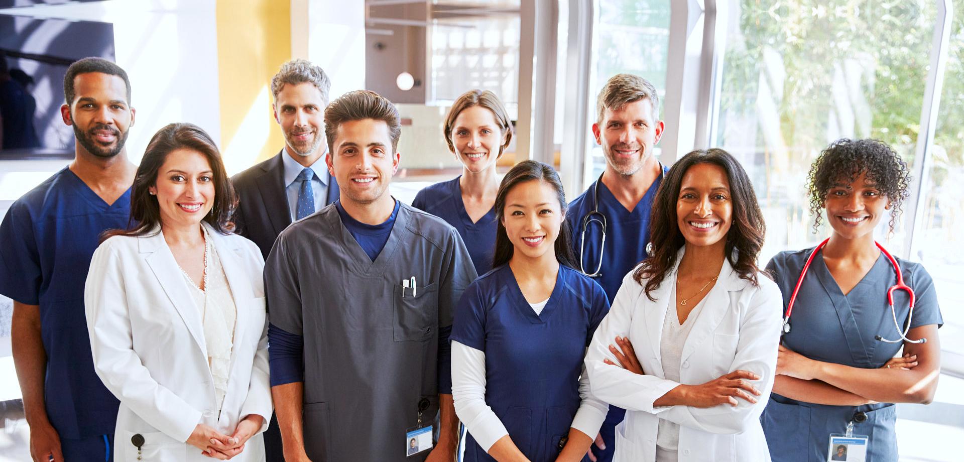 healthcare staffs smiling